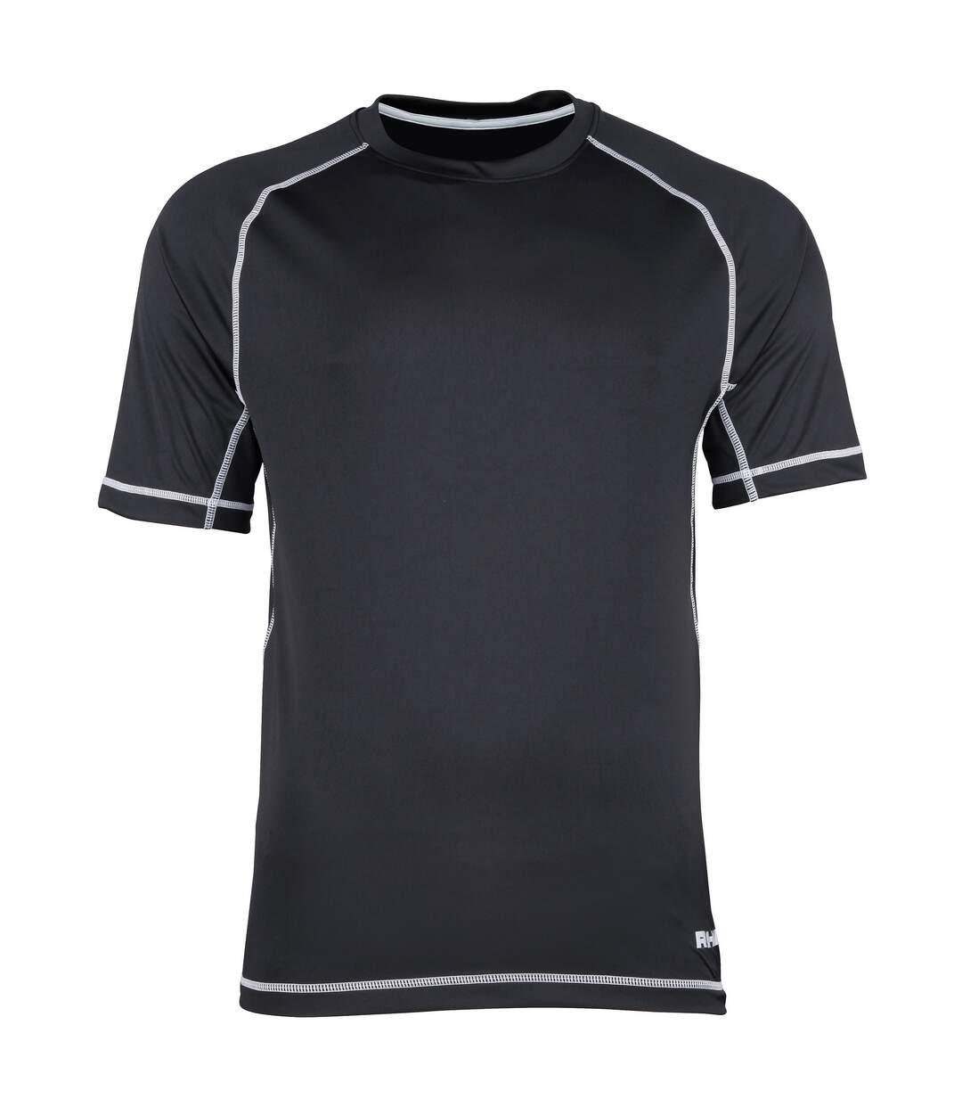 Rhino - T-shirt sport à manches courtes - Homme (Rouge/Surpiqûres blanches) - UTRW1286