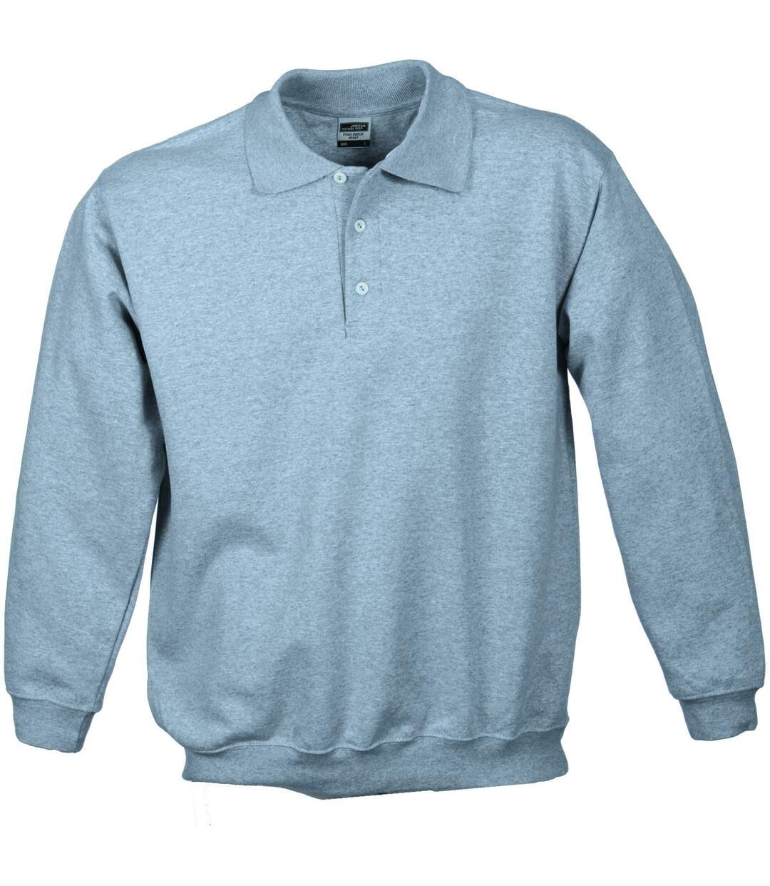 Sweat-shirt col polo - homme - JN041 - gris