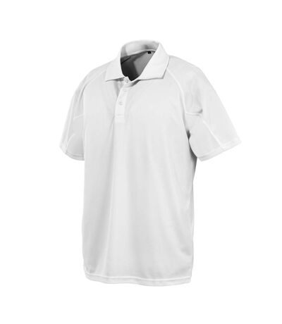 Spiro Impact Mens Performance Aircool Polo T-Shirt (White) - UTBC4115