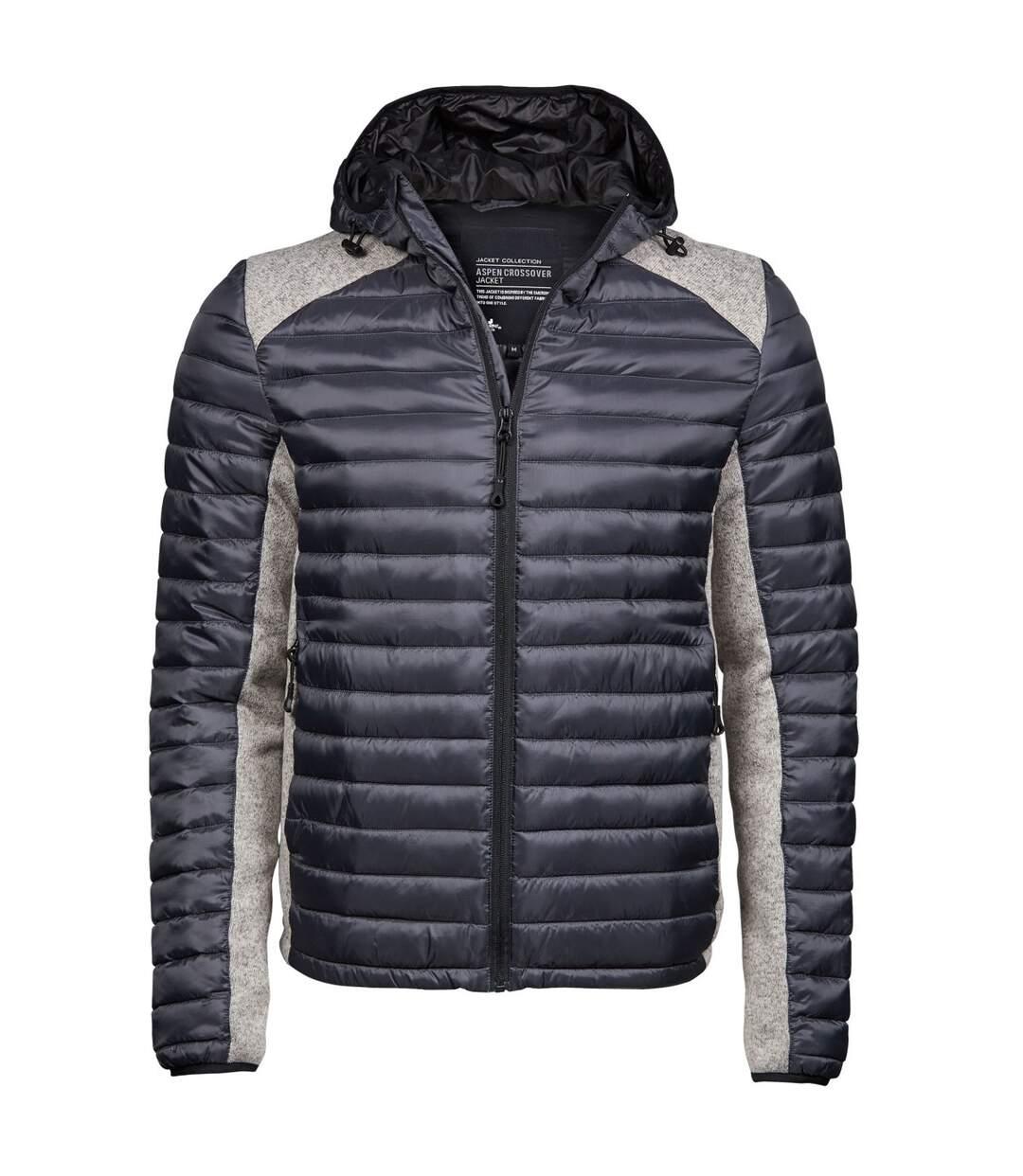 Tee Jays Mens Aspen Crossover Jacket (Cosmic Grey/Grey Melange) - UTBC3929