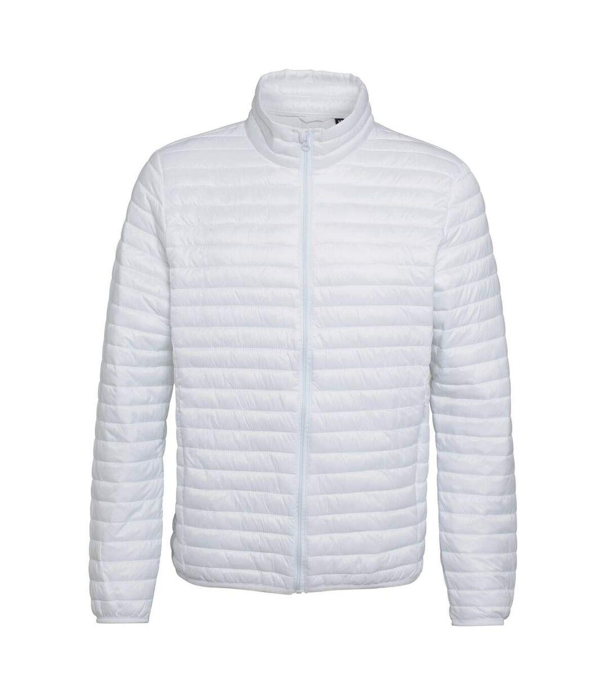 2786 Mens Tribe Fineline Padded Jacket (White) - UTRW3846