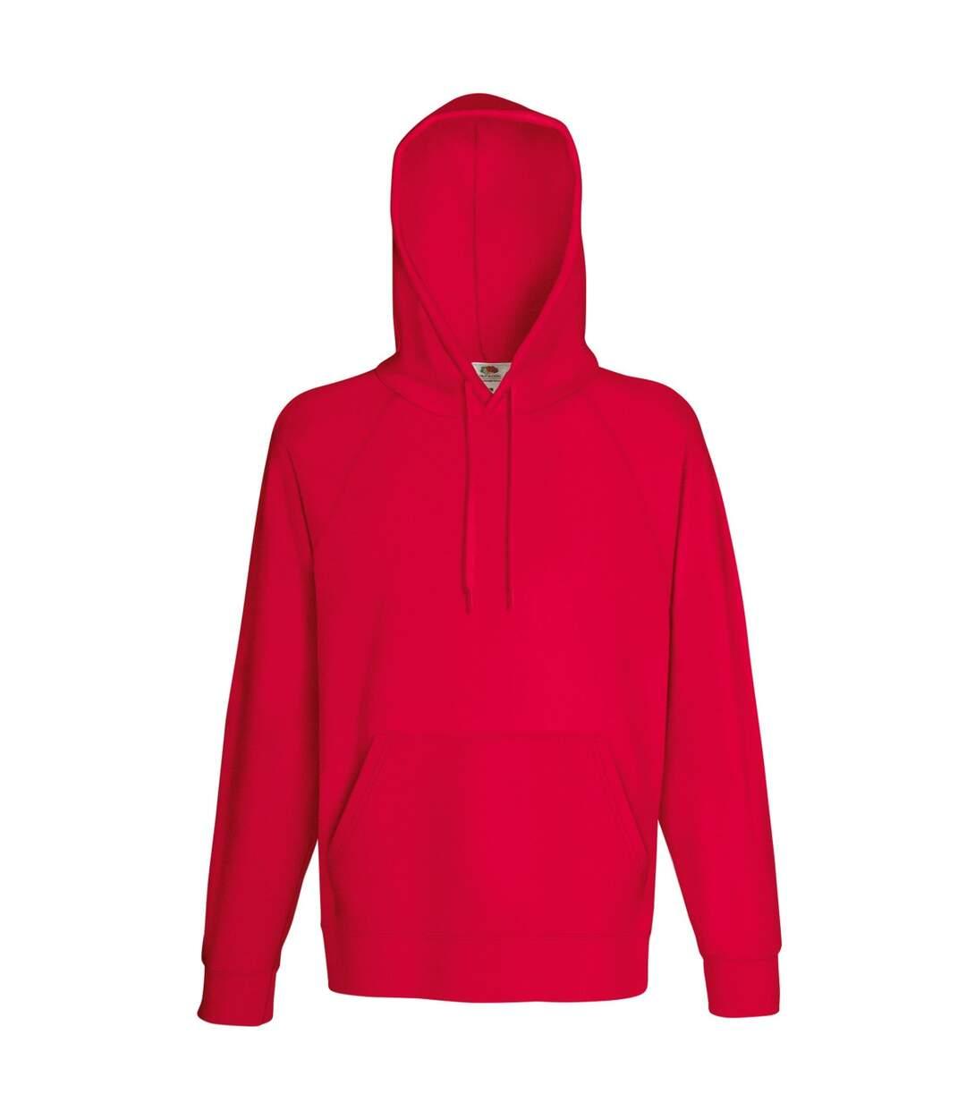 Fruit Of The Loom Mens Lightweight Hooded Sweatshirt / Hoodie (240 GSM) (Red) - UTBC2654