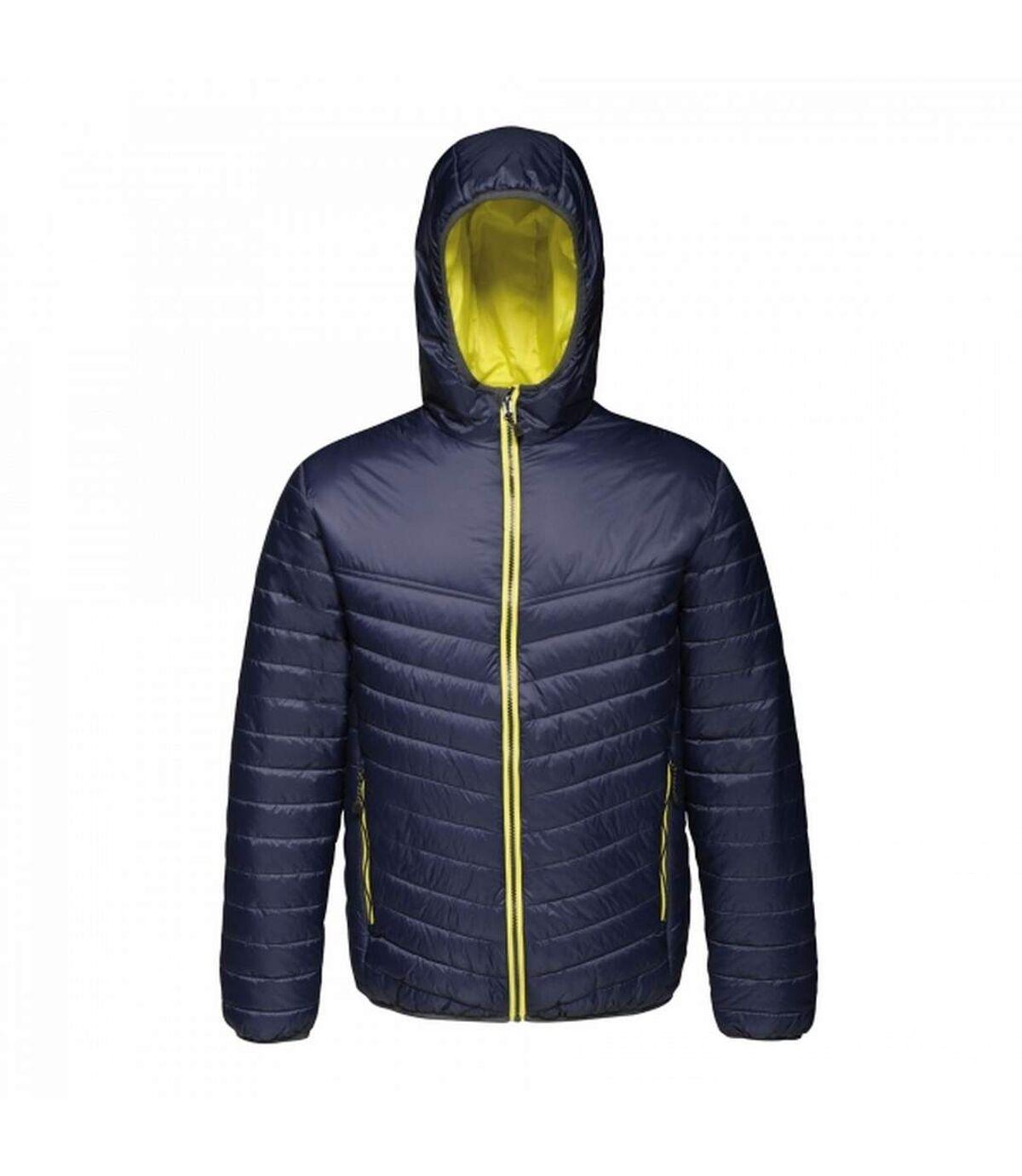 Regatta Mens Acadia II Hooded Jacket (Granite Grey/Pastel Orange) - UTRG3745
