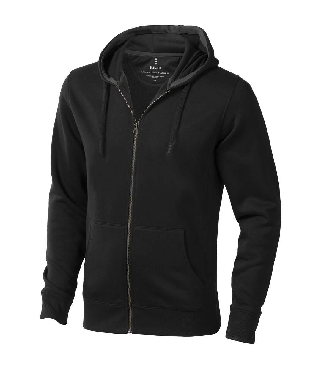 Elevate Mens Arora Hooded Full Zip Sweater (Anthracite) - UTPF1850