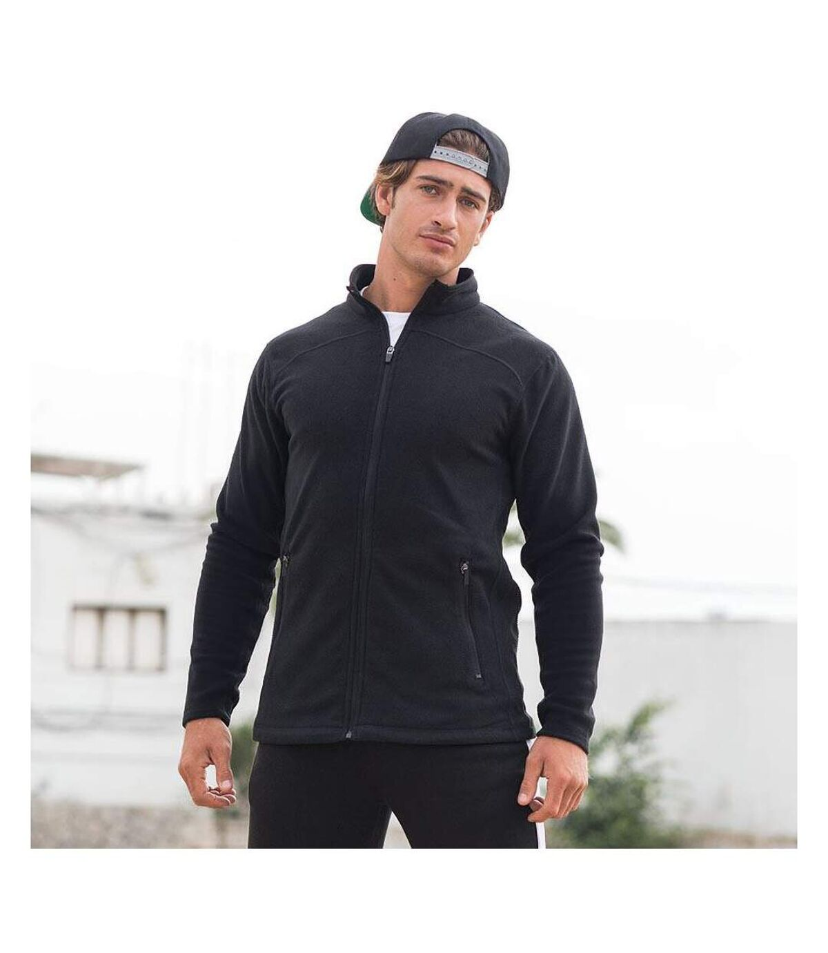 Skinni Fit Mens Microfleece Anti Pill Lightweight Jacket (Black) - UTRW1397