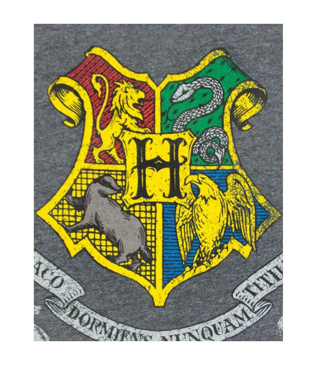Harry Potter Mens Hogwarts T-Shirt (Charcoal) - UTNS5732