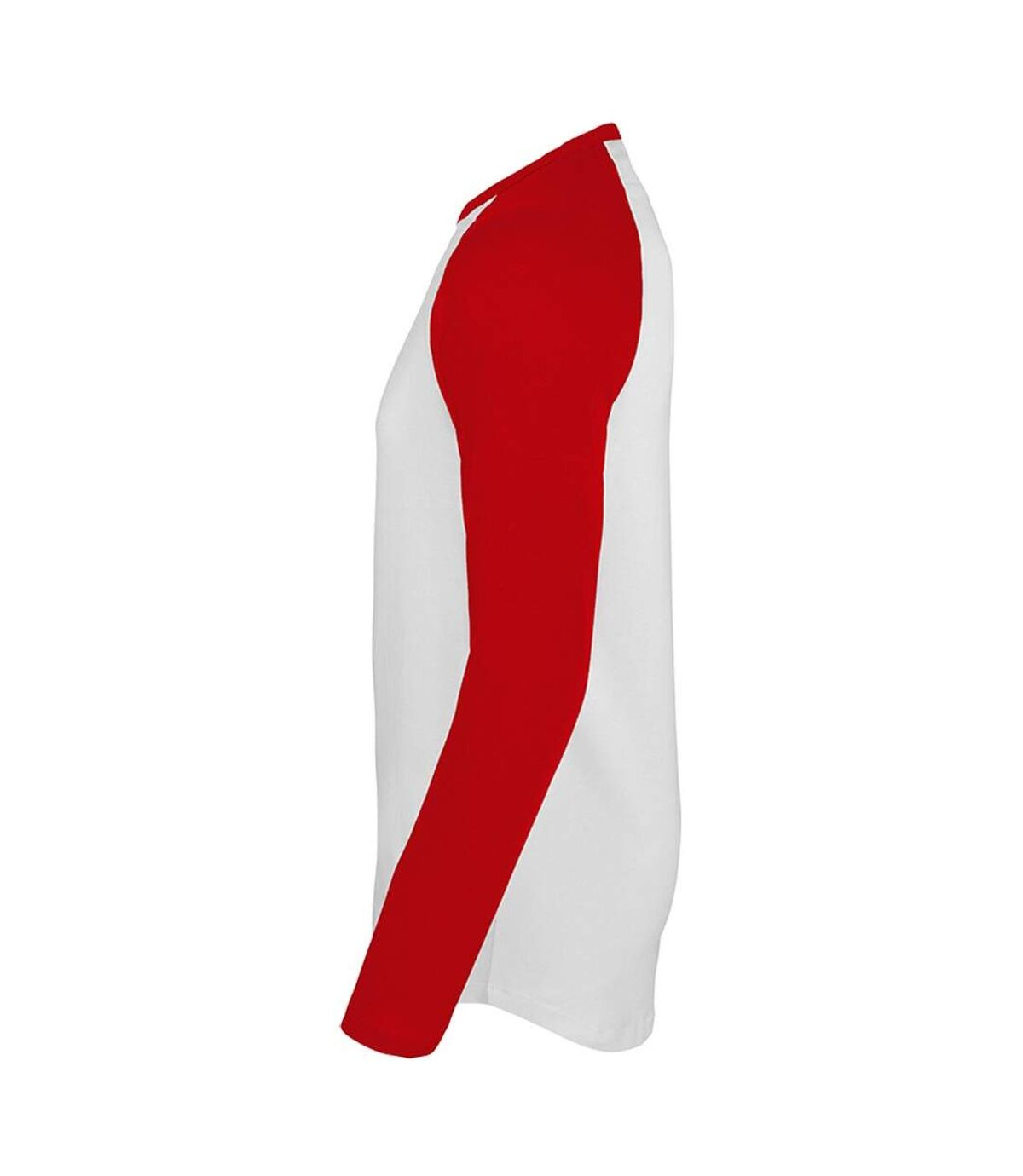 SOLS - T-shirt manches longues FUNKY - Homme (Blanc/rouge) - UTPC3513