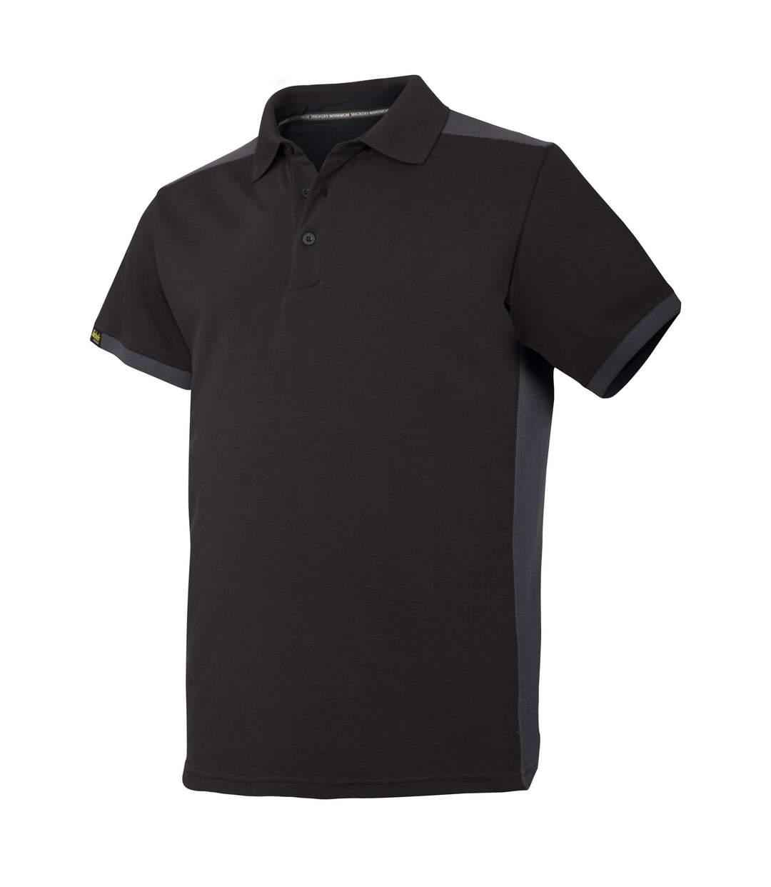 Snickers Mens AllroundWork Short Sleeve Polo Shirt (Black/Steel Grey) - UTRW5483