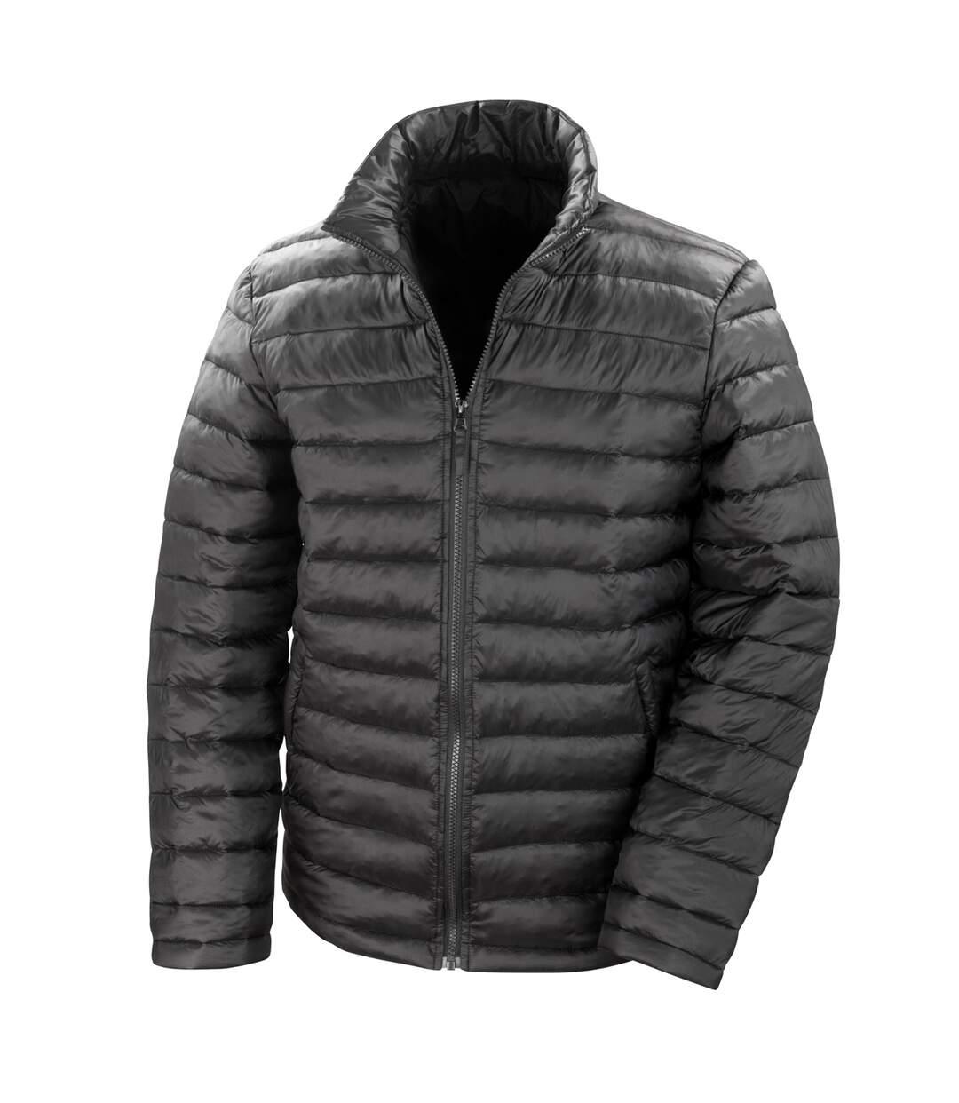 Result Mens Ice Bird Padded Winter Jacket (Water Repellent & Windproof) (Black) - UTBC2048