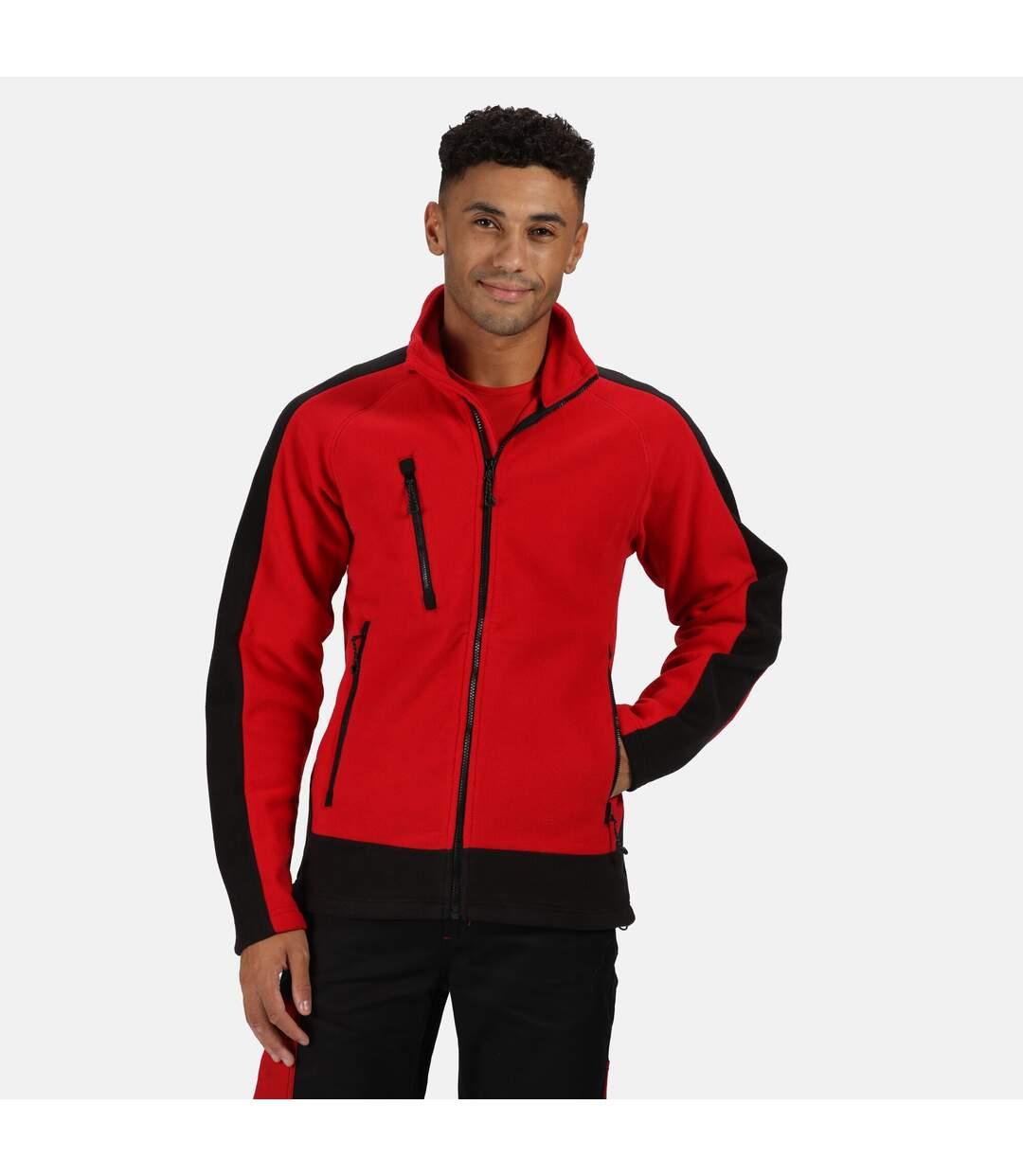 Regatta Mens Contrast Fleece Jacket (Classic Red/Black) - UTRG3568
