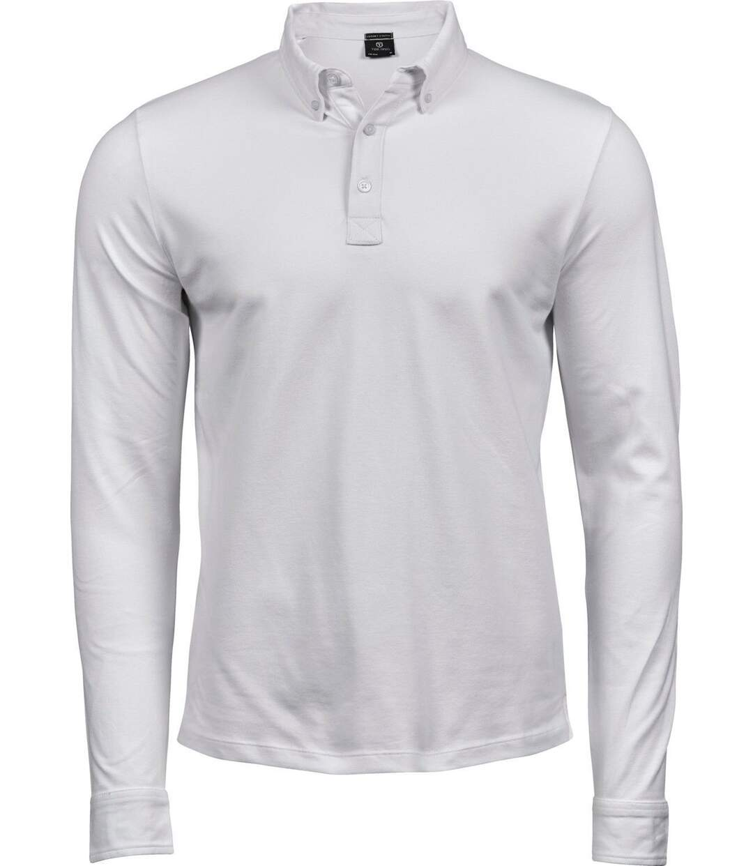 Polo homme luxury stretch - 1412 - blanc - manches longues