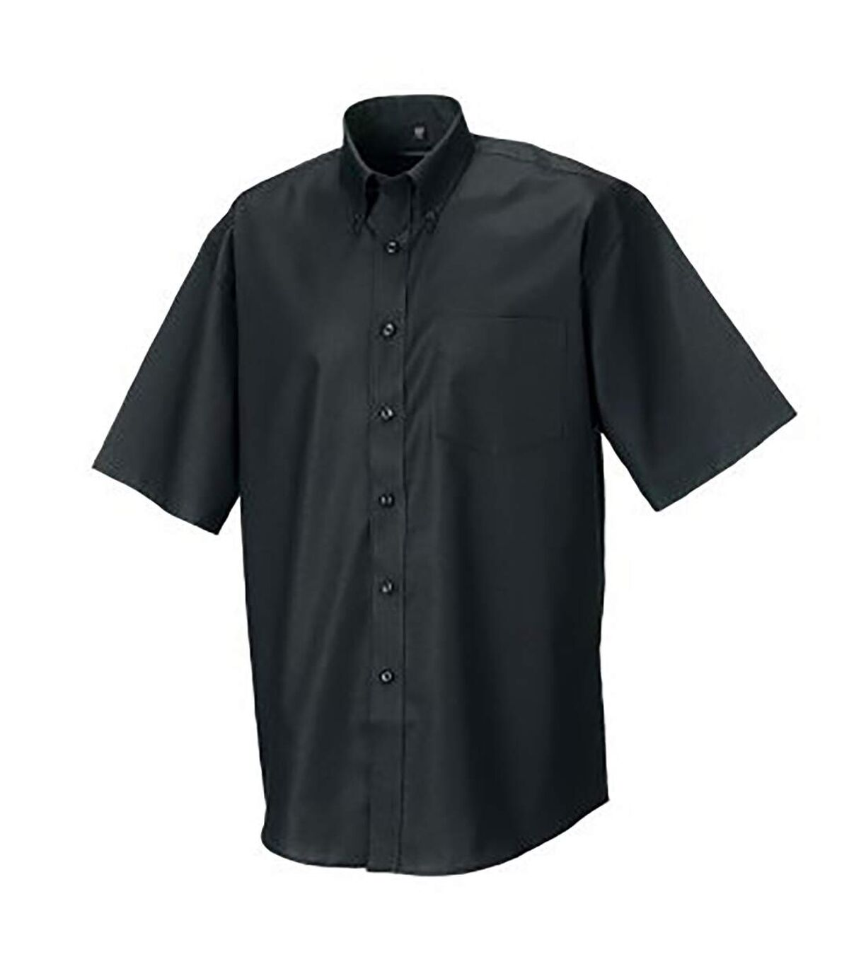 Russell Collection Mens Short Sleeve Easy Care Oxford Shirt (Black) - UTBC1025