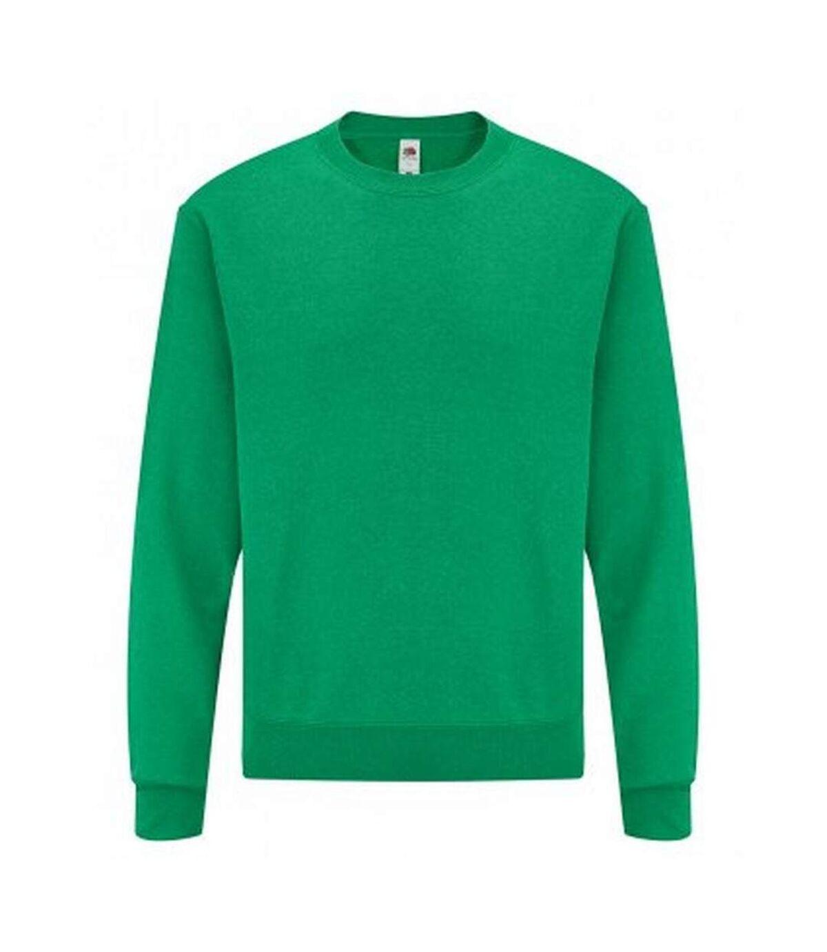 Fruit Of The Loom Mens Classic Drop Shoulder Sweatshirt (Heather Green) - UTPC3669