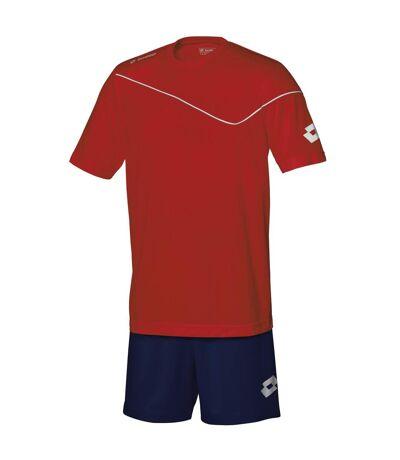 Lotto Mens Sports Football Kit Sigma T-Shirt (Flame Red / Navy) - UTRW820