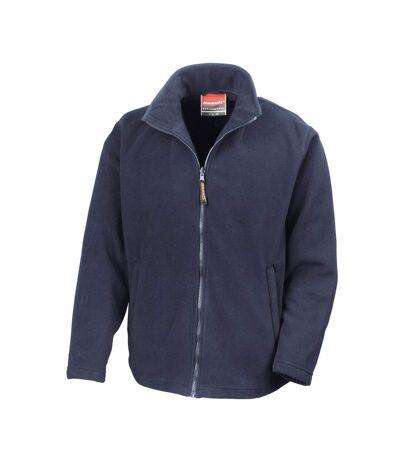 Result Mens High Grade Microfleece Horizon Showerproof Breathable Jacket (Navy Blue) - UTBC854