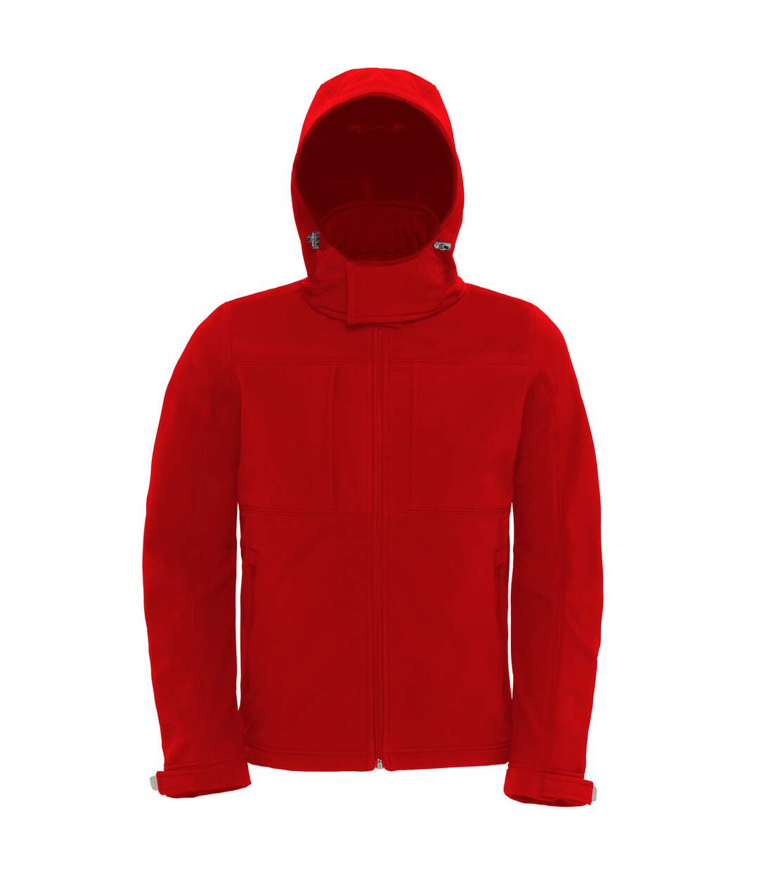 B&C Mens Hooded Softshell Breathable, Waterproof & Windproof Jacket (Fleece Lining) (Red) - UTBC2001
