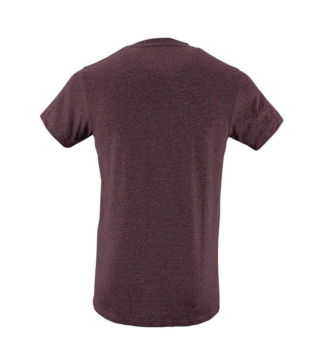 SOLS - T-shirt REGENT - Homme (Bordeaux chiné) - UTPC506