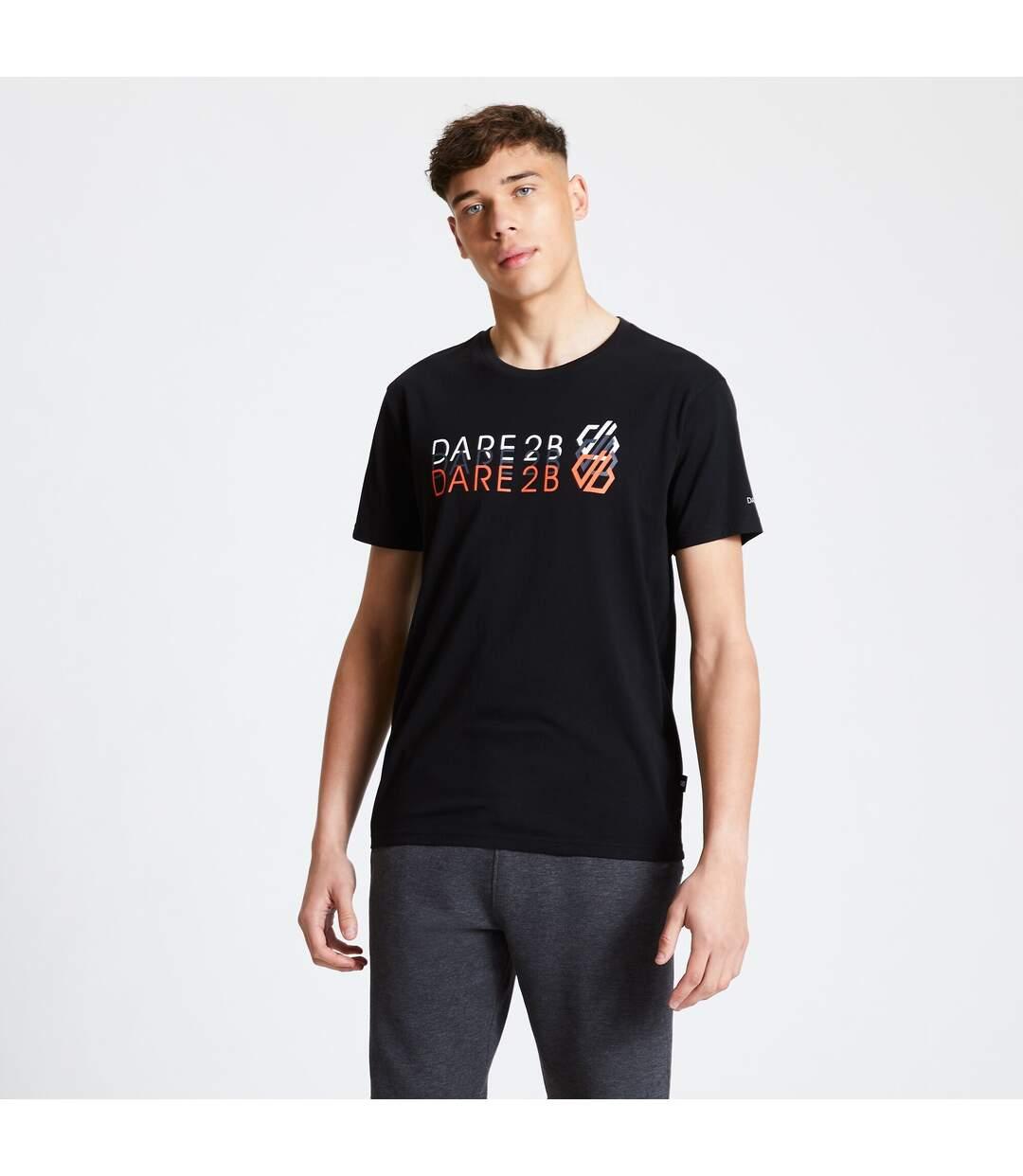 Dare 2B Mens Focalize Print T-Shirt (Black) - UTRG5024