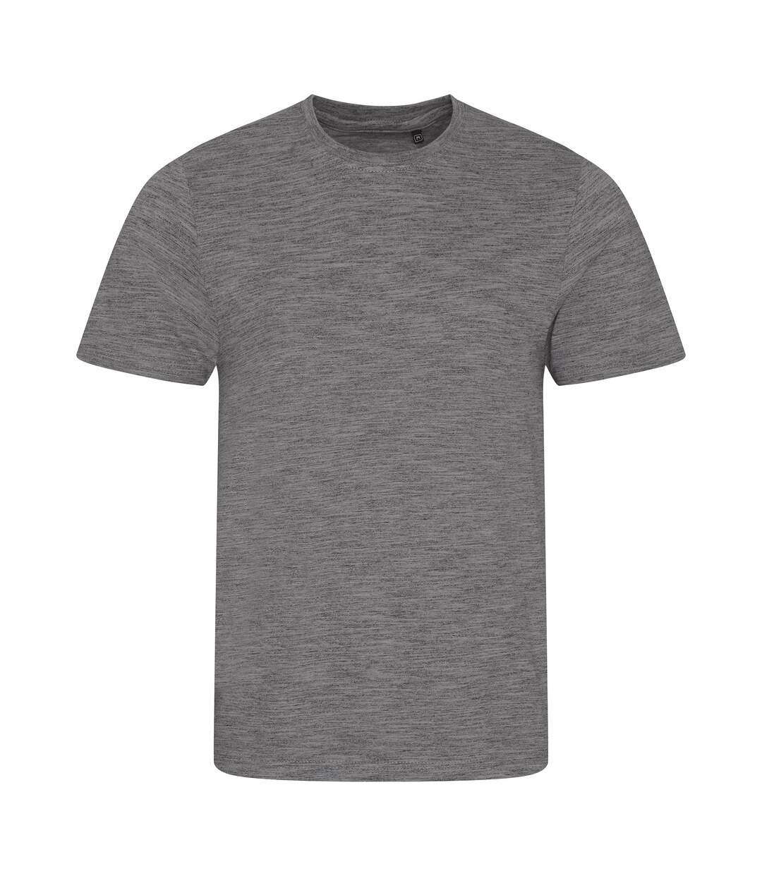 AWDis Mens Cosmic Blend T-Shirt (Cosmic Heather/Cosmic Black) - UTPC2977