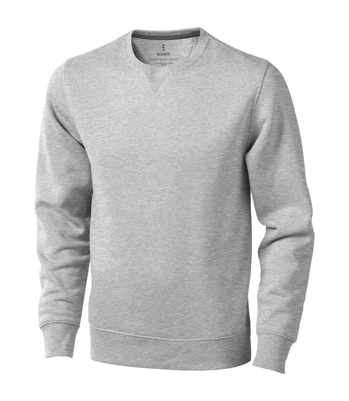 Elevate Mens Surrey Crew Neck Sweater (Grey Melange) - UTPF1849