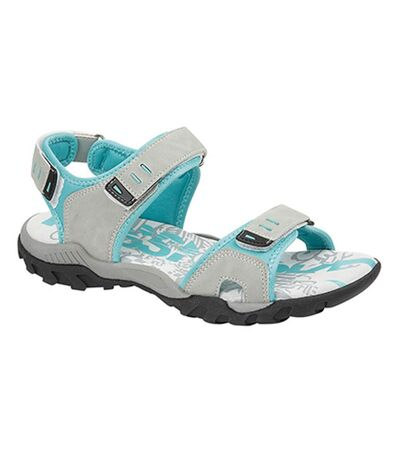PDQ Womens/Ladies Toggle & Touch Fastening Sports Sandals (Grey) - UTDF437
