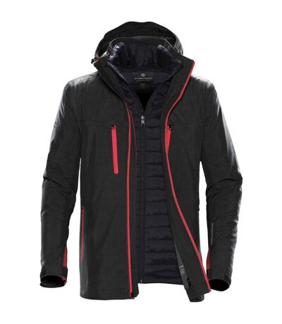 Stormtech Mens Matrix System Jacket (Black/Bright Red) - UTBC4116