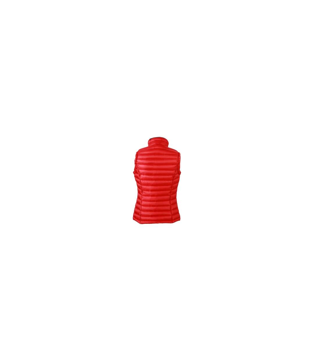 Gilet sans manches matelassé duvet FEMME - JN1079 rouge - doudoune anorak