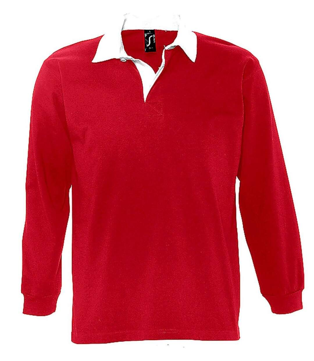 Polo rugby manches longues HOMME - 11313 - rouge