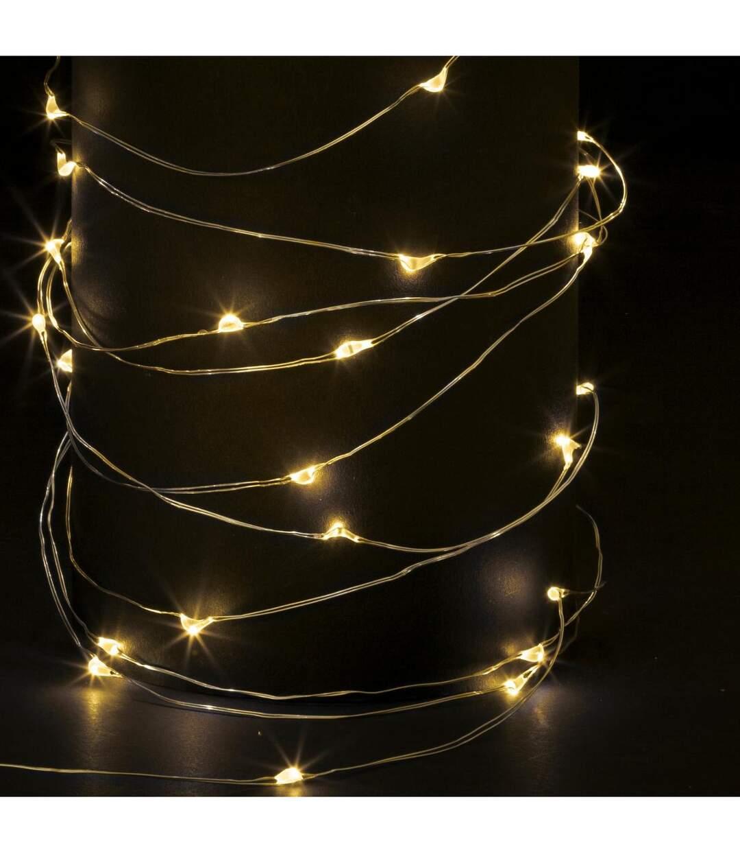 Feeric Christmas - Guirlande Lumineuse Intérieure et Extérieure 20 m 200 MicroLED Blanc chaud lumière fixe