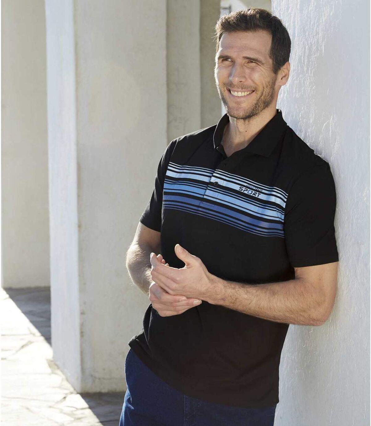 Két darabos csíkos sport póló szett  Atlas For Men