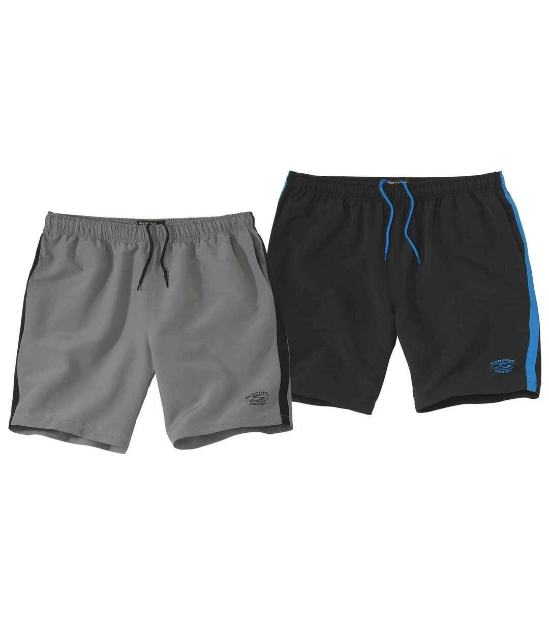 Súprava 2športových šortiek zmikrovlákna  Atlas For Men