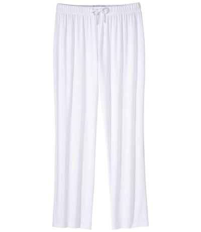 Women's Casual White Trousers