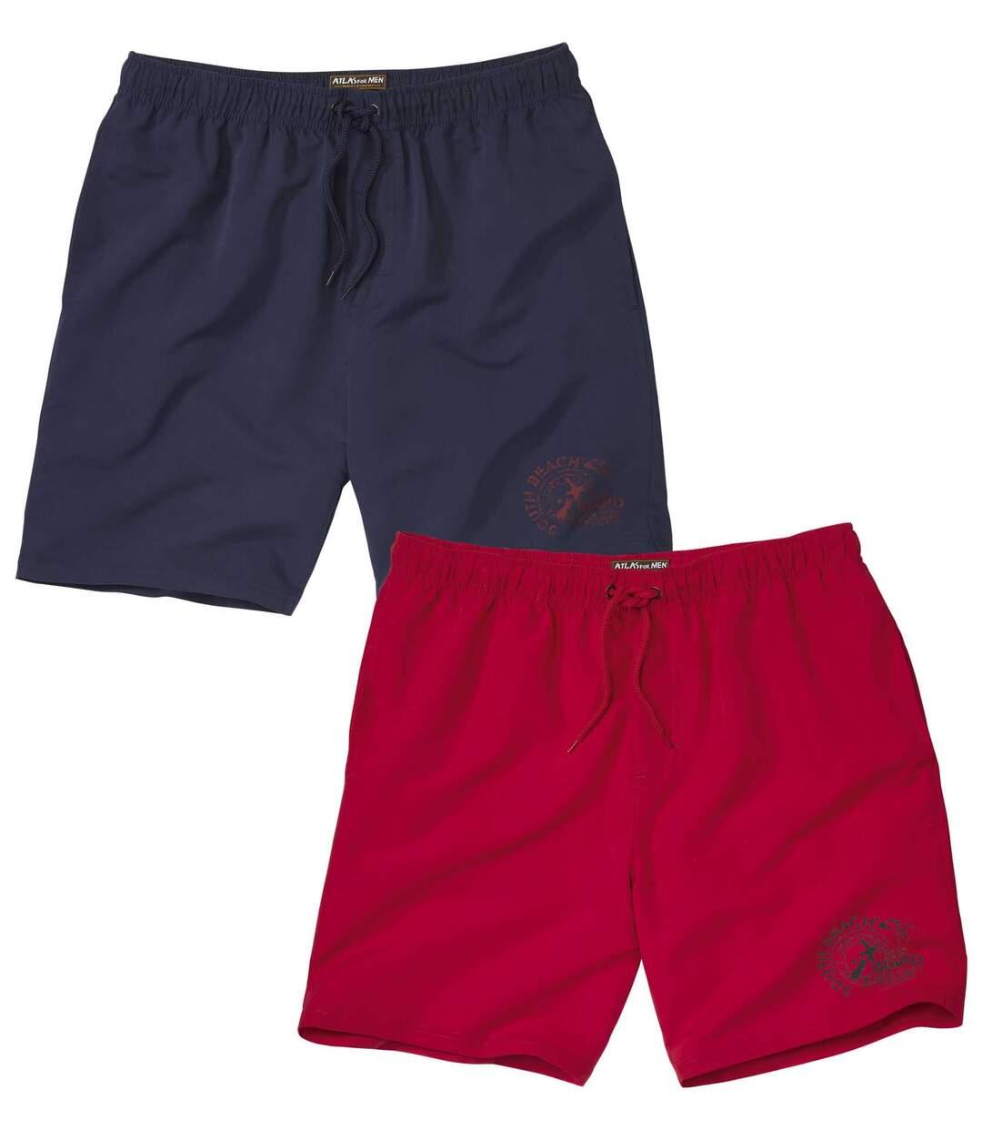 2er-Pack Shorts Sport aus Microfaser
