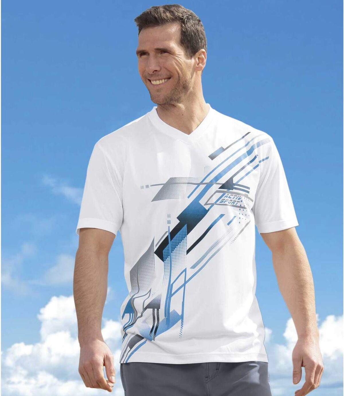 Set van 3 Summer Sport T-shirts met V-hals Atlas For Men