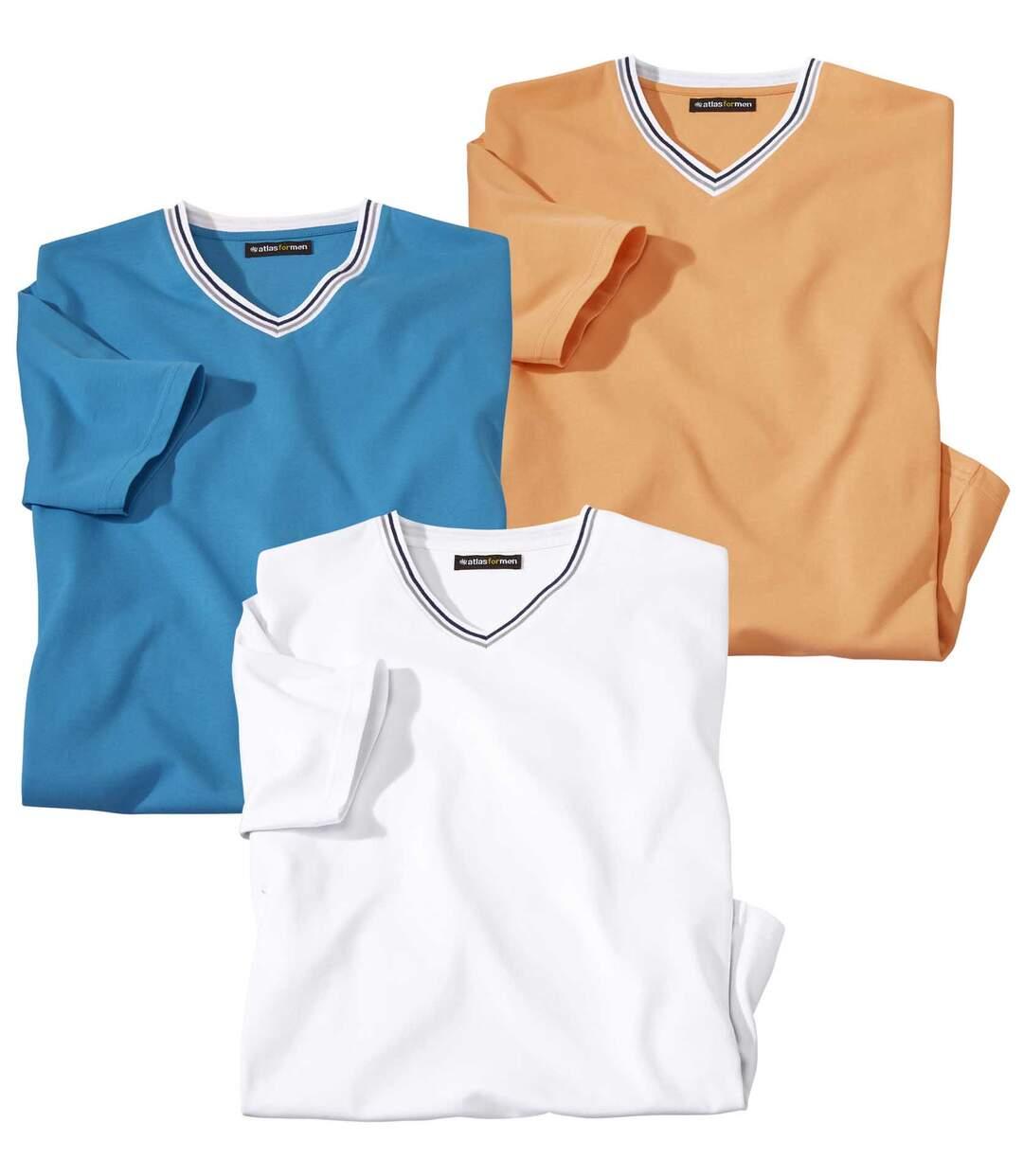 Set van 3 T-shirts met V-hals Palma