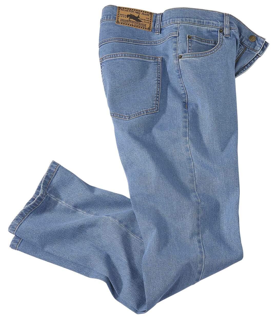 Jasnoniebieskie wygodne dżinsy ze stretchem