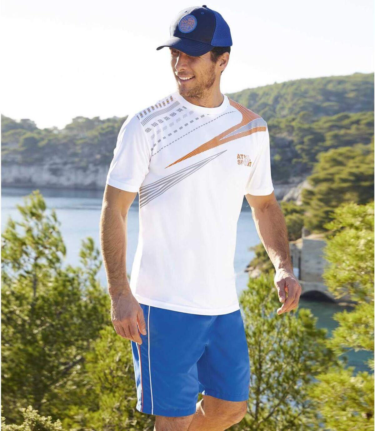 2er-Pack Shorts Running Line aus Microfaser Atlas For Men