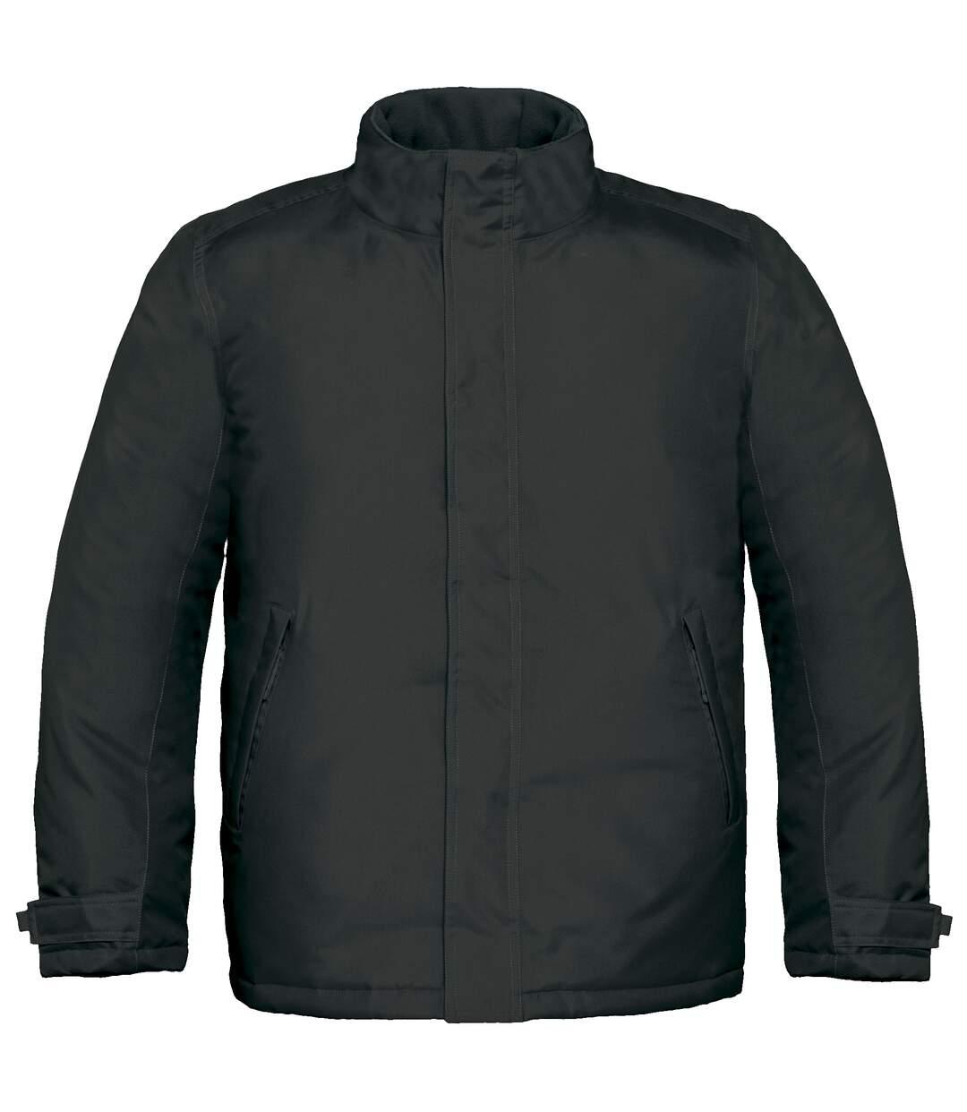 B&C Mens Real+ Premium Windproof Thermo-Isolated Jacket (Waterproof PU Coating) (Black) - UTBC2002