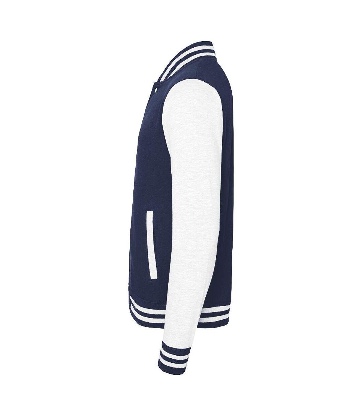 Awdis Unisex Varsity Jacket (Oxford Navy / White) - UTRW175