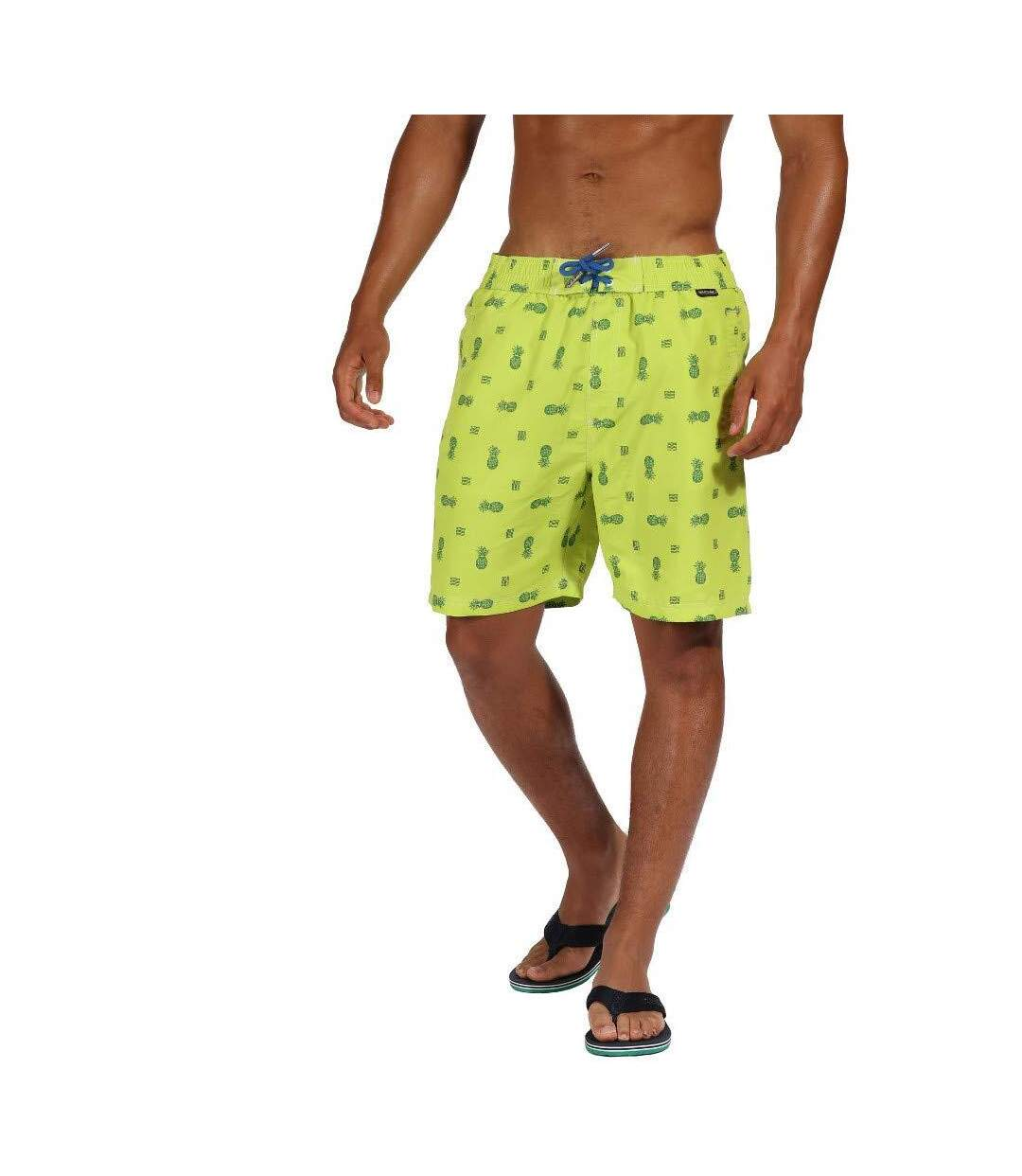 Regatta Mens Hadden II Quick Drying Board Shorts (Lime Punch Pineapple) - UTRG4175