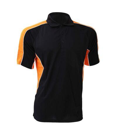 Polo à manches courtes Gamegear® Cooltex Active pour homme (Noir/Pourpre) - UTBC420