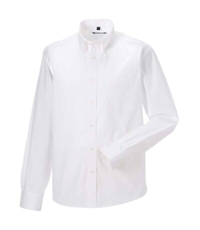 Russell - Chemise classique 100% coton à manches longues - Homme (Blanc) - UTRW3256