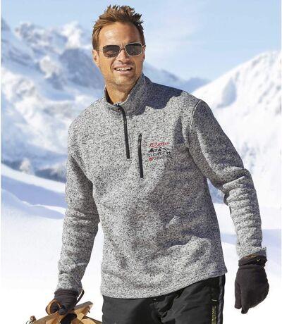 Moltonový pulóver North Snow