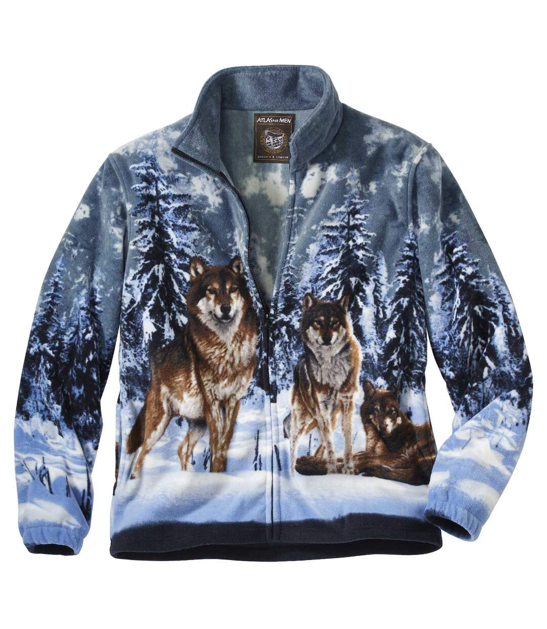 Flísová bunda Vlci