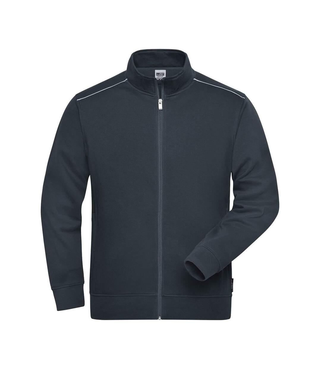 Veste sweat de travail - Homme - JN894 - gris carbone