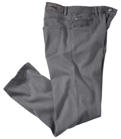 Men's Gray Stretch Denim Jeans