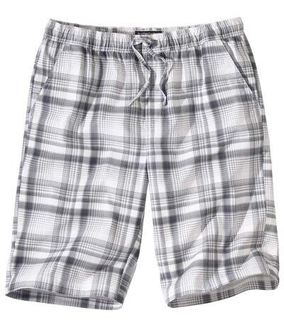 Men's Grey Checked Shorts