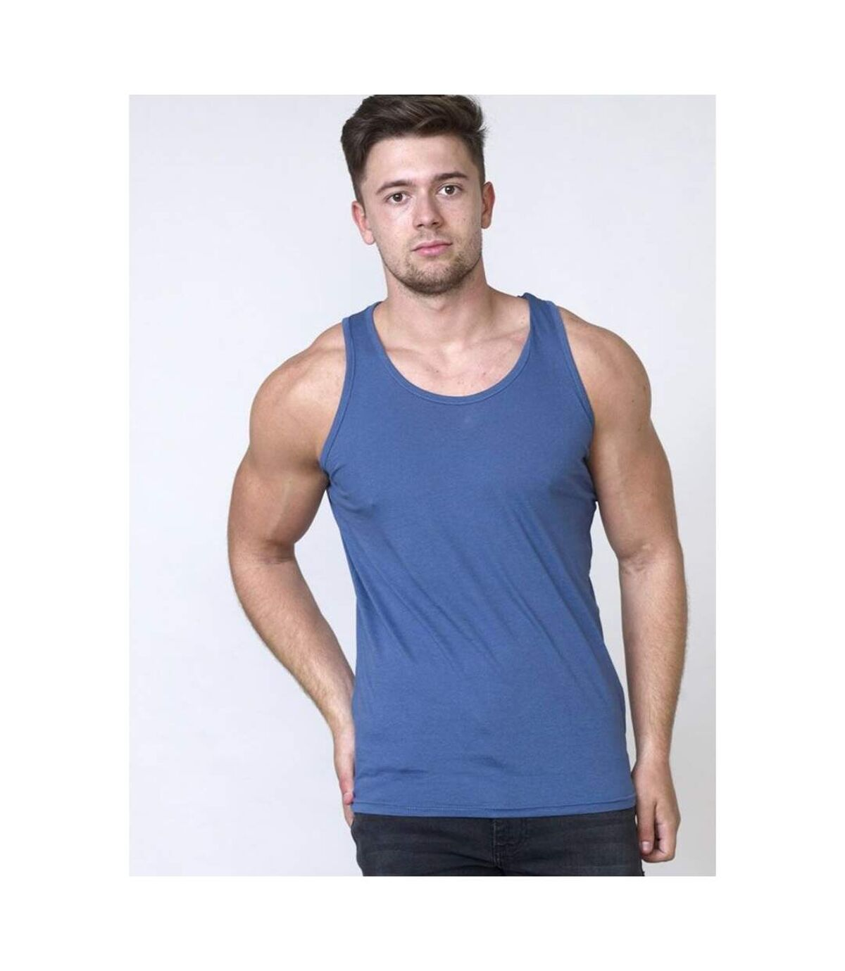 Duke Mens Fabio-2 Muscle Vest (Charcoal) - UTDC168
