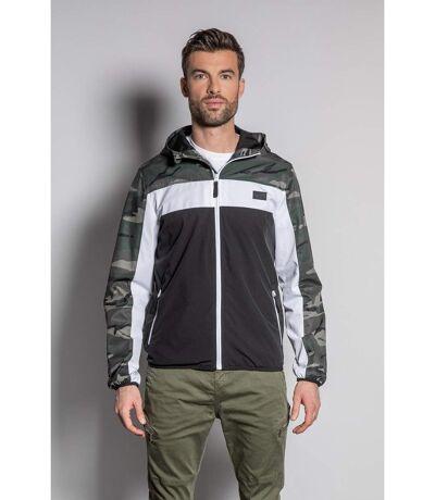 Veste camouflage à capuche FRIZZY Khaki Camo