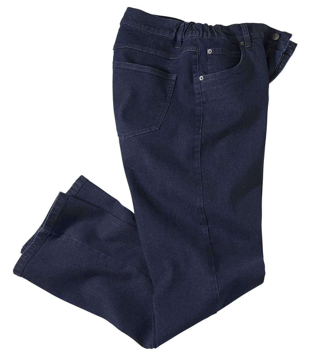 Blaue Stretch-Jeans mit Regular-Schnitt